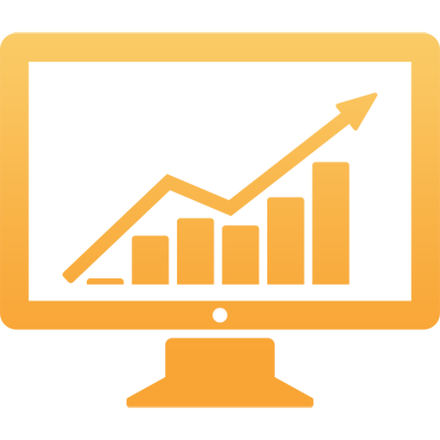 graphic monitor of reports and analytics suite